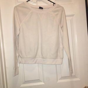 white faded glory fleece sweatshirt crop
